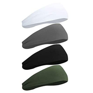 4Pcs Sports Sweat-Absorbent Headband Male Outdoor Non-Slip Sports Headband Yoga Fitness Antiperspirant Headband thumbnail