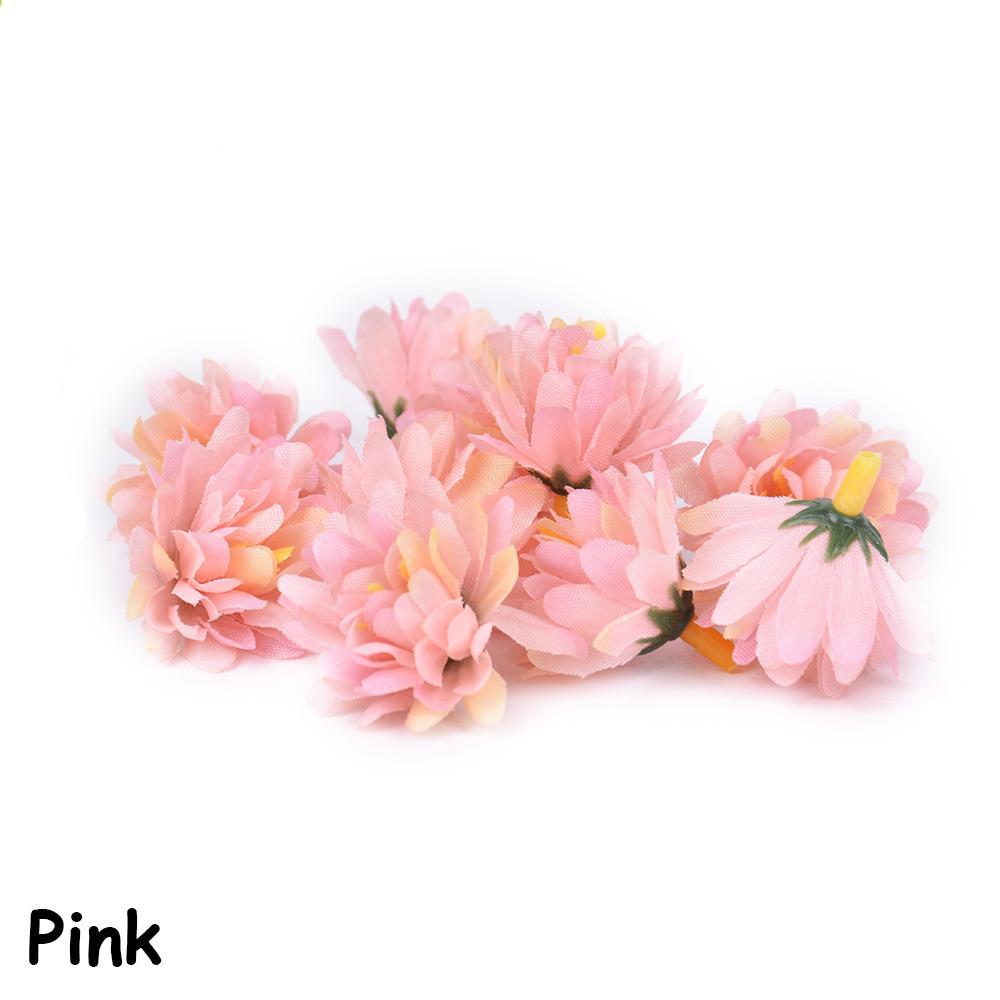 Scrapbooking Silk Carnation Home Decor Fake Gillyflower Artificial Flower Heads