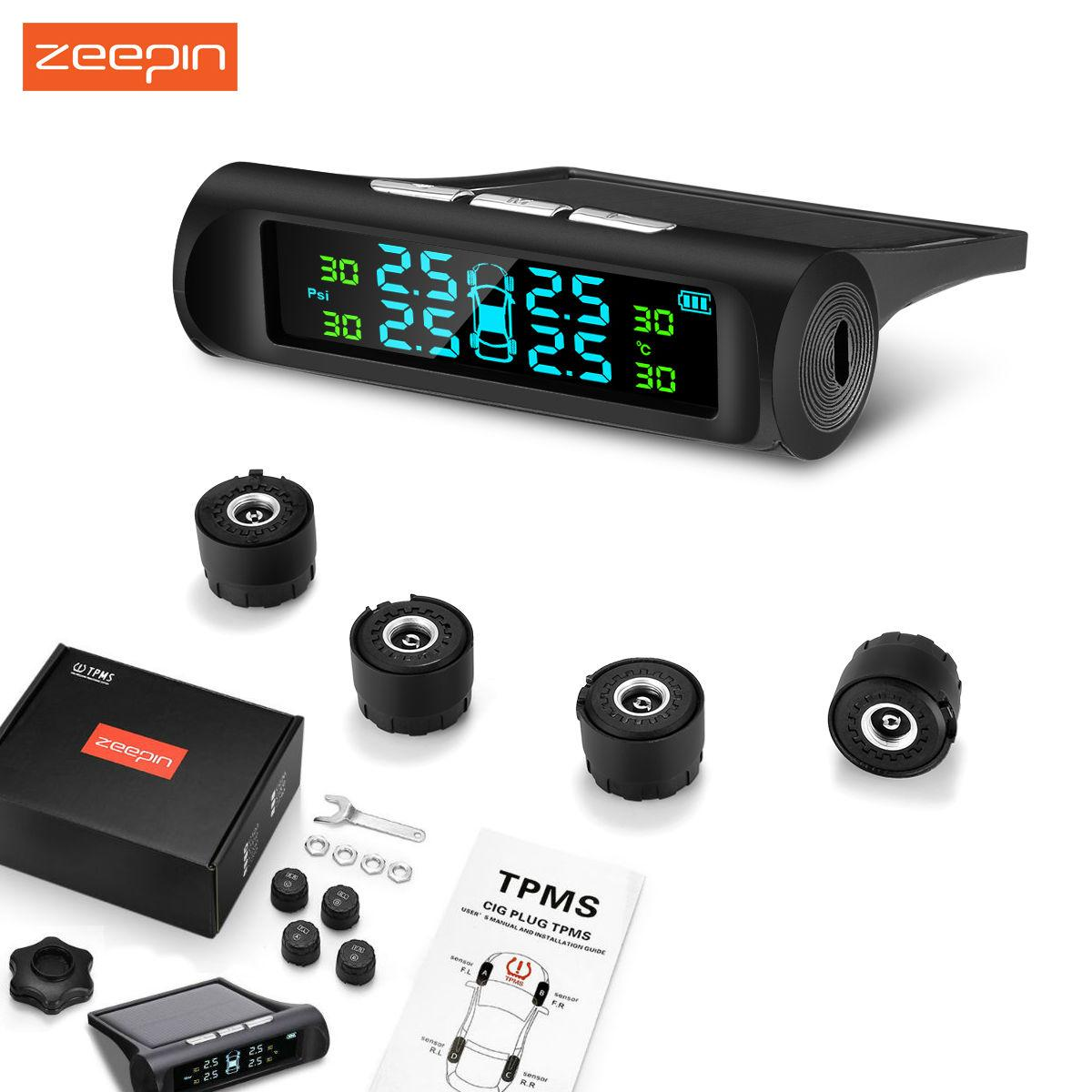 Zeepin C240 Tyre Pressure Monitoring System Solar Tpms With 4 External Sensors By Yinte.