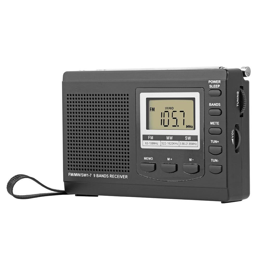 HRD-310 Radio FM MW SW Digital Alarm Clock FM Radio Receiver w/Earphone