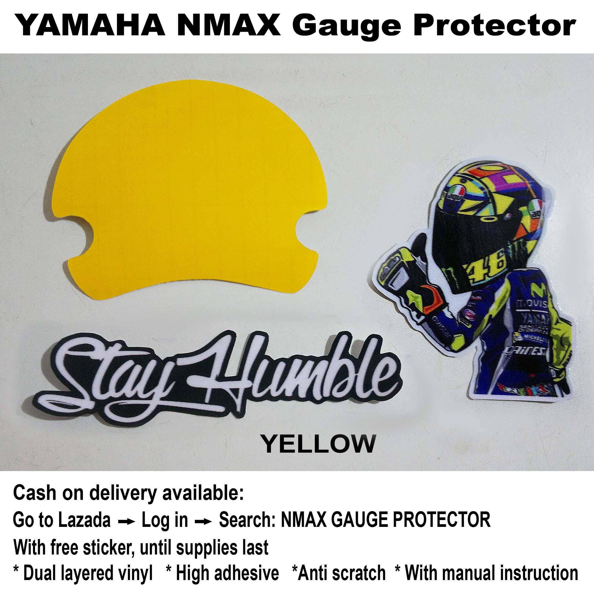 Nmax Gauge Protector (yellow) By Ej Cycle Graphics.