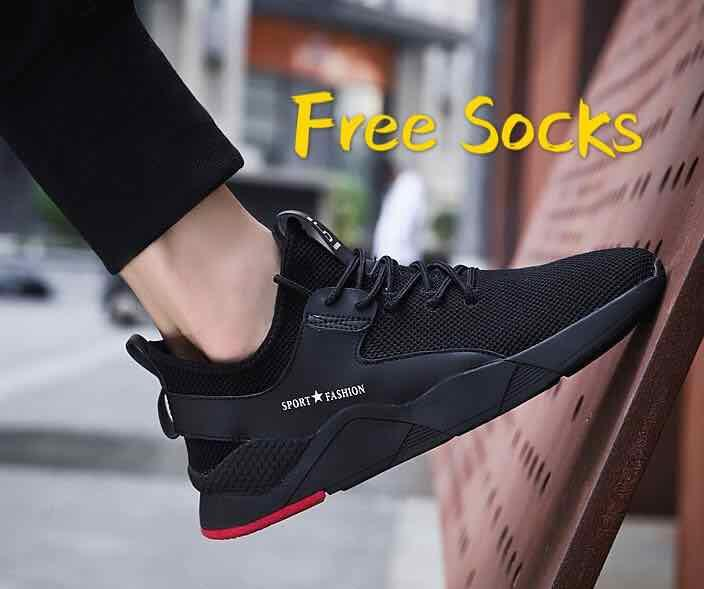 8daeff359810 2019 New men s shoes trend fashion men s casual sports shoes comfortable  Korean version of breathable running