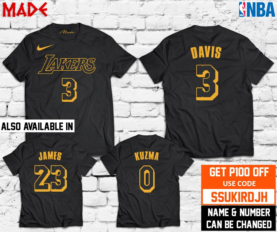 premium selection f6bd3 17d6a NBA - LA Lakers Lebron James Anthony Davis Kyle Kuzma Jersey Shirt