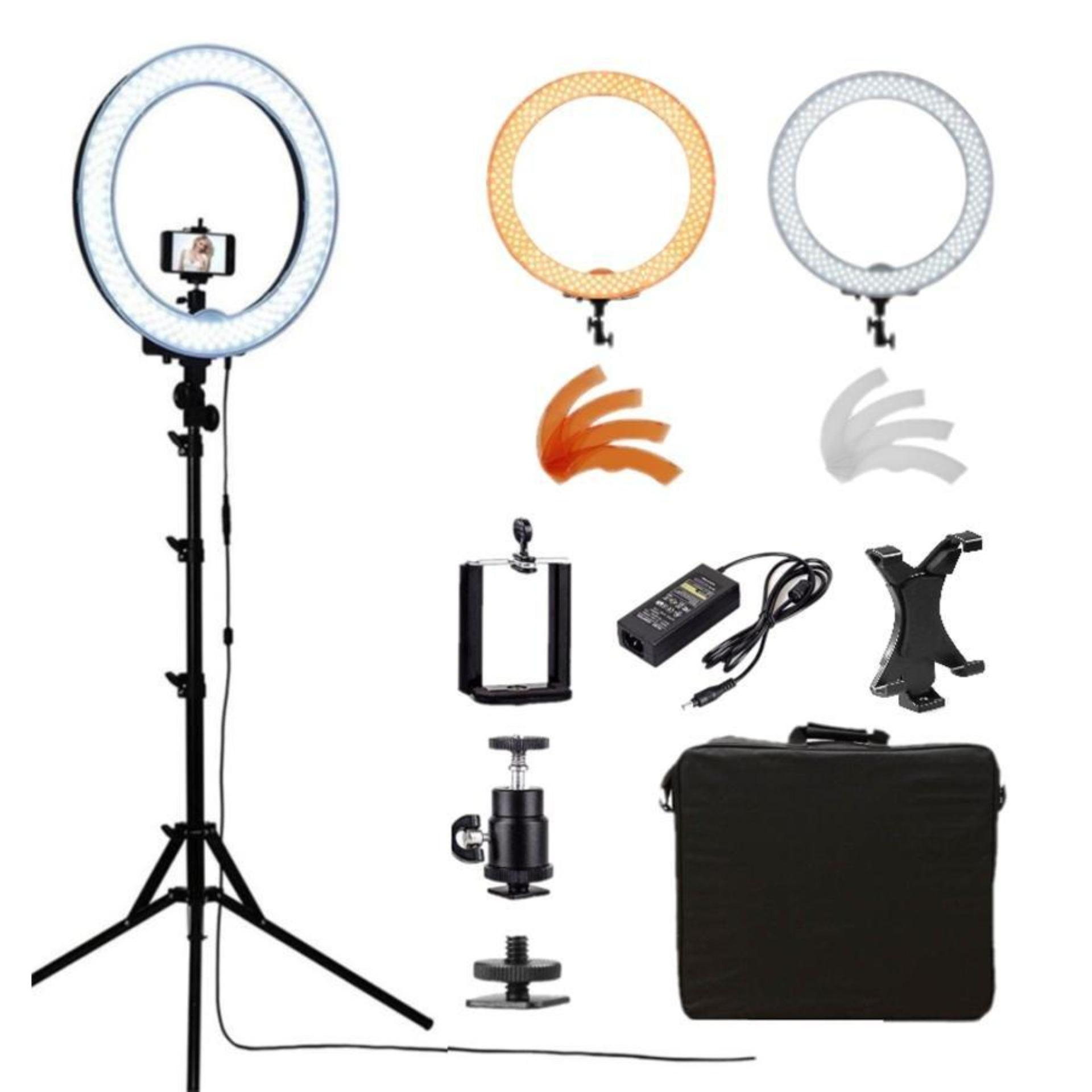 "Meking Dimmable 14"" LED Ring Light Photography Beauty Lighting with Light Stand Tripod Set"