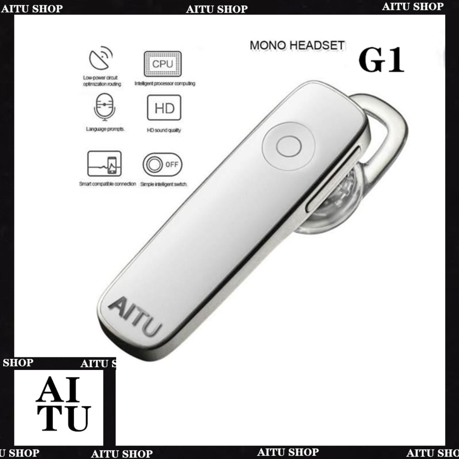 AITU G1 Wireless Bluetooth Headset Headset BT V4 0 Stereo Handsfree With  Microphone M165
