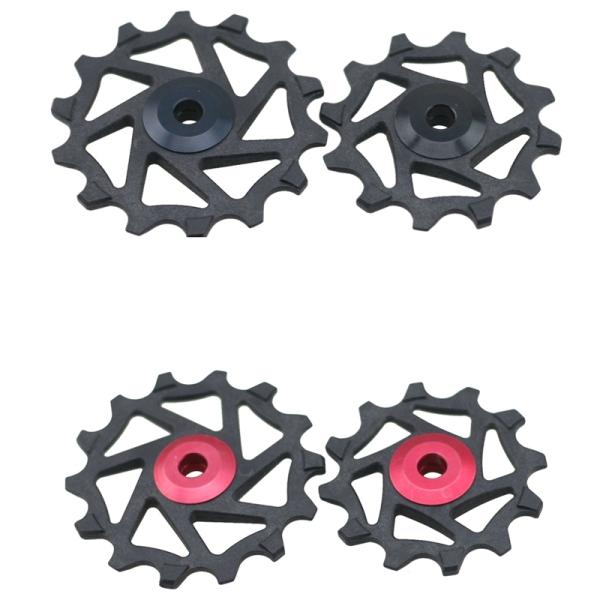Mua 2 Bộ Ròng Rọc Cùi Đề Bằng Sứ Cho Xe Đạp 12T 14T Ròng Rọc Quay Số Sau Xe Đạp Dành Cho Shimano XTR M9000 , M980 Đen & Đỏ