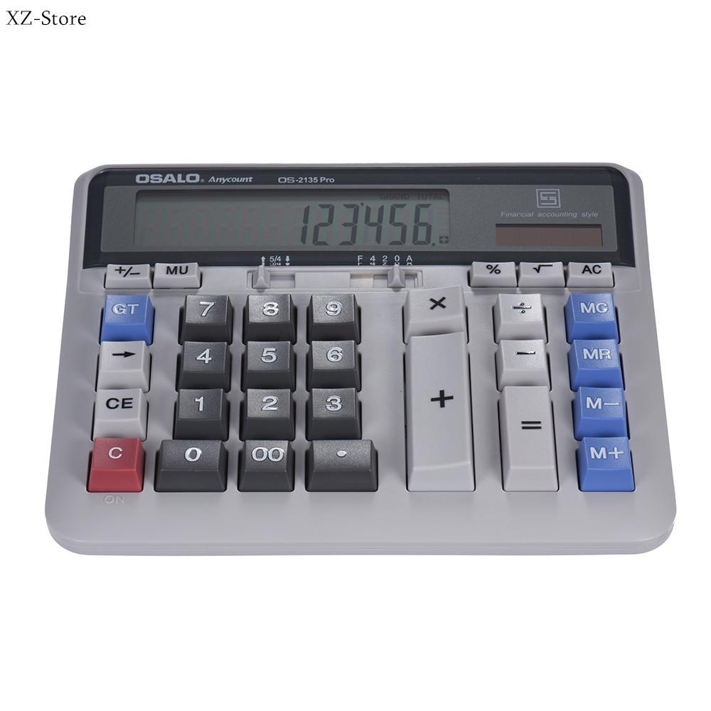 (Free Shipping Fee)Large Computer Electronic Calculator Counter Solar & Battery Power 12 Digit