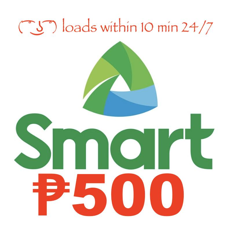 Smart / Tnt Regular Load 500 Pesos By Acts29.