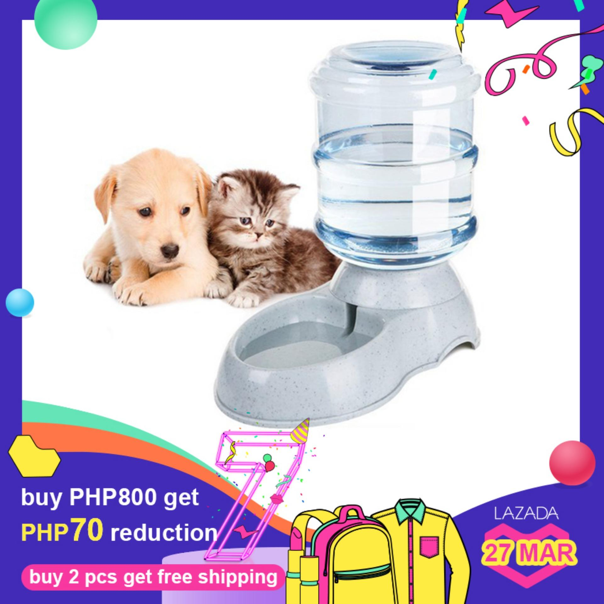 3.5L Large Automatic Pet For Cats Dogs Plastic Dog Food Bowl Pets Dispenser  water 20c9bb36c
