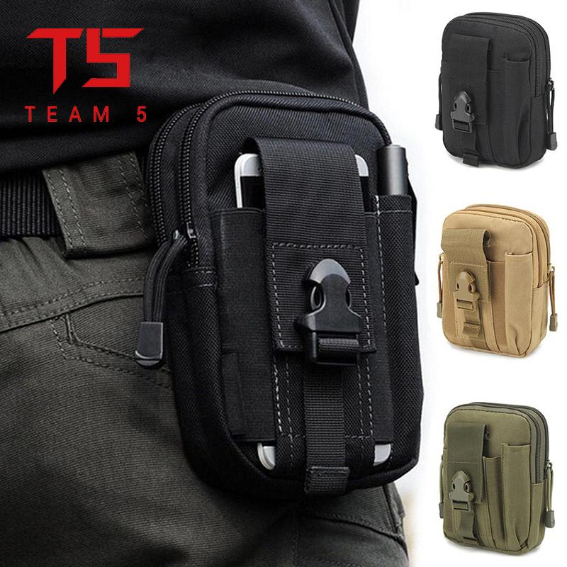 T5 Men's pockets tactical camouflage jungle casual pockets durable pockets  belt canvas multi-function military zipper waterproof pockets outdoor