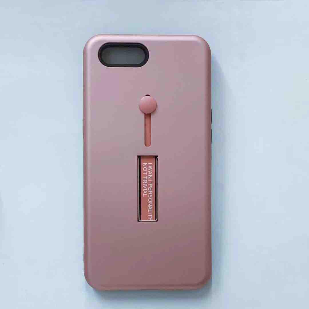 Oppo A3s Armor Back Case With Ring At Stand,3 in 1 Back Case
