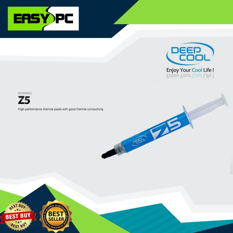 Deepcool Z5 Silicon Thermal Paste Syringe, Deep Cool Z5 3grams thermal gel  consist high heat conductivity to allow high performance of heat