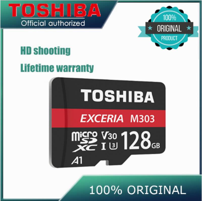 ♥Hàng Sẵn Có + Miễn Phí +♥COD♥Mới Nhất Đến! 100% Chính Hãng TOSHIBA EXCERIA M303 Micro SD Card 128GB Thẻ Nhớ U3 A1 UHS-I TF Card Cho 4K Video