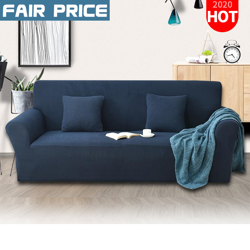 Stretch Elastic Fleece Thick Sofa Cover Slipcover Couch Covers Furniture Protect