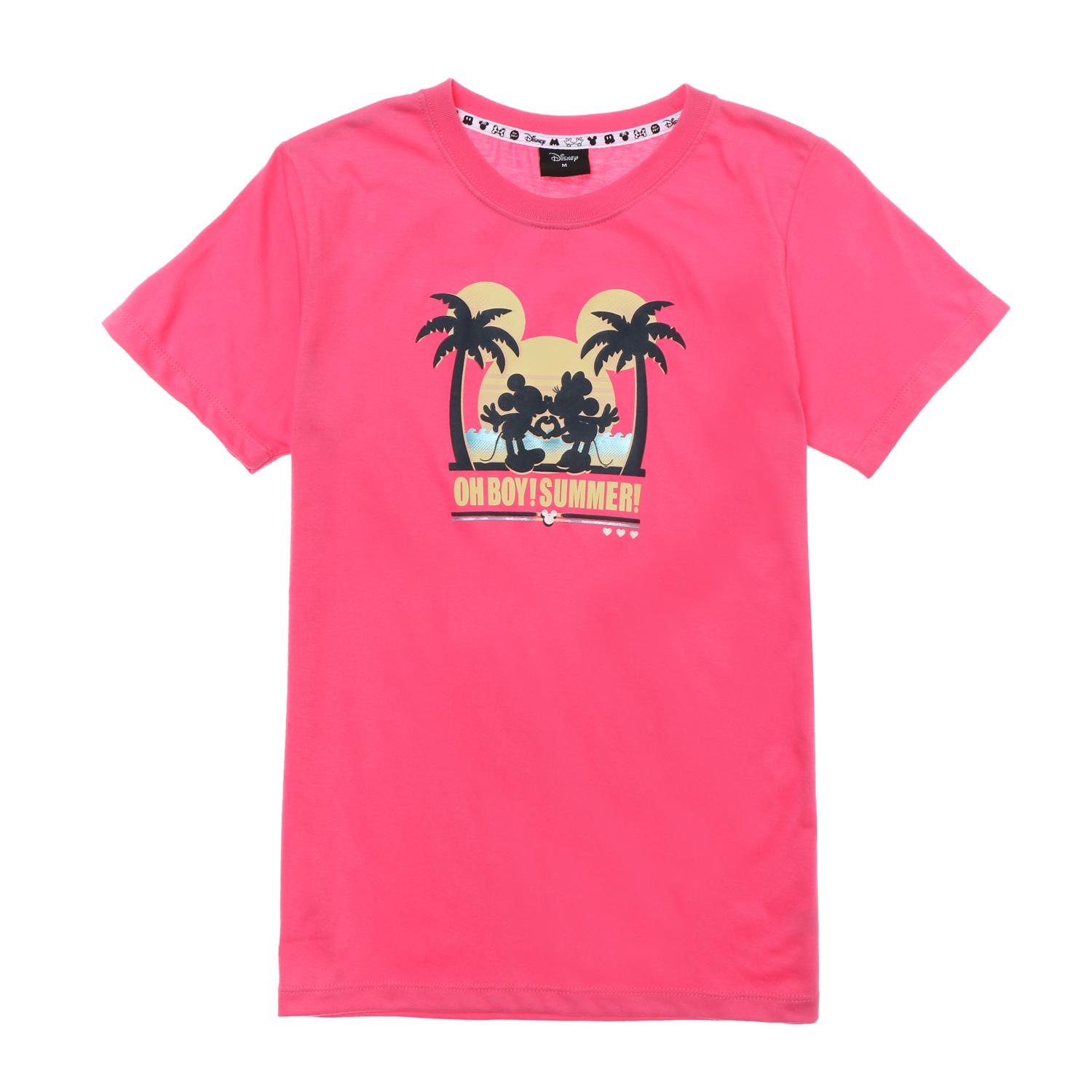 5349309554f Disney Minnie and Mickey Mouse Girls Teens Oh Boy Summer Graphic Tee in Pink
