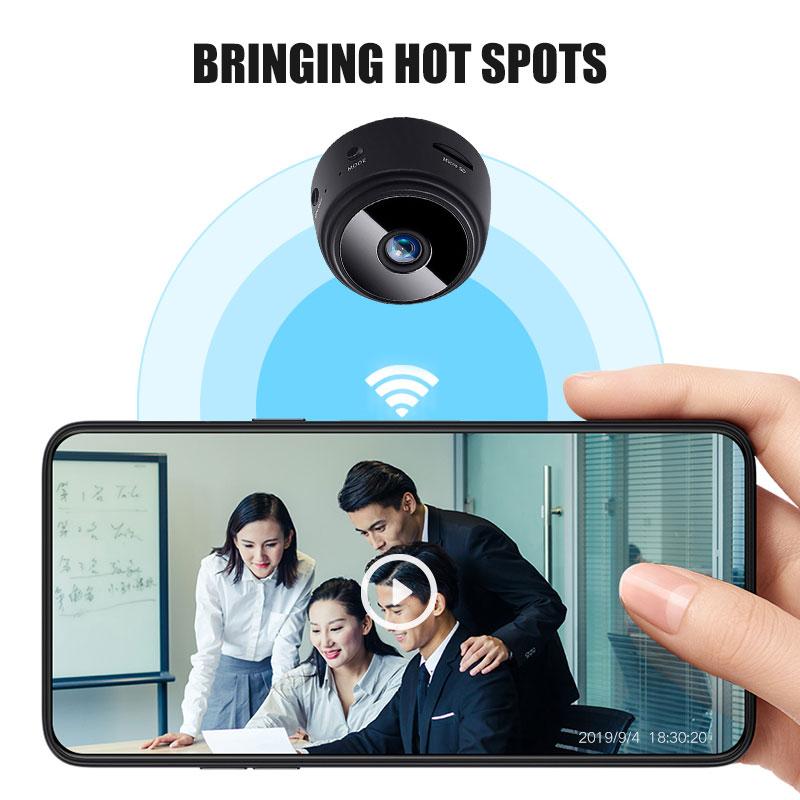 Camera WIFI Mini PangYa 1080P HD, DVR An Ninh Gia Đình Không Dây Camera Quan Sát Ban Đêm Hồng Ngoại