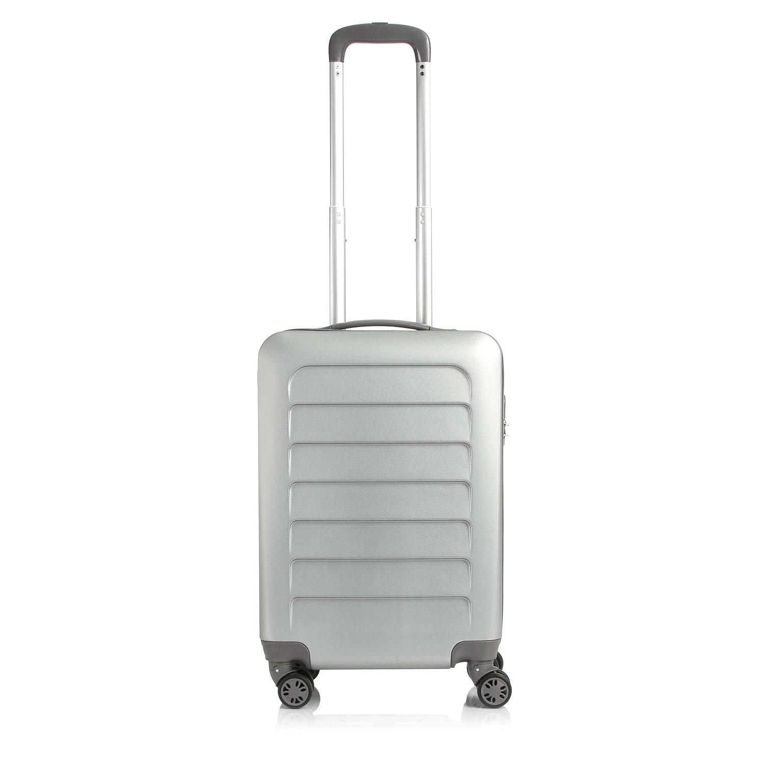 Travel Basic Clare 20-Inch Small Hard Case Luggage (Silver) 389f256d5e5a2