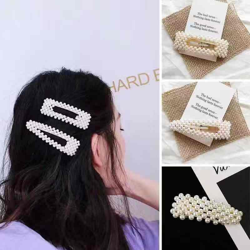 239069cf092 CiCi Mart Girl Head Chain Hair Band Women Girls Barrettes Hair Clip Crystal  Elegant Pearl Hairpin