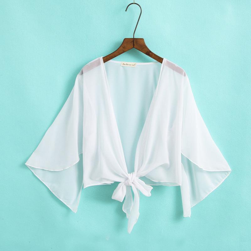 Sifon Selendang perempuan Musim panas mantel tipis Baju pelindung matahari 2019 model baru netral musim panas
