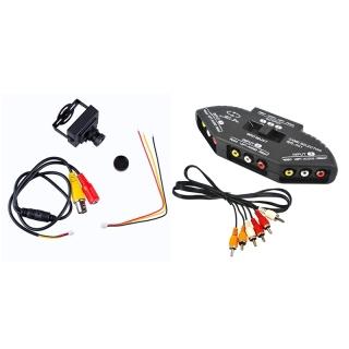 1 Bộ Ống Kính Bảng TV HD 700TVL CMOS PAL 6 Mm, Camera CCTV & 1 Bộ Bộ Chuyển Đổi Âm Thanh AV RCA Bộ Chia Bộ Chọn thumbnail