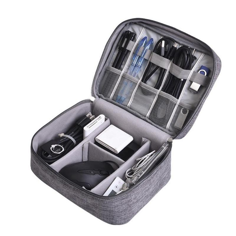 cbe5383cce1b9 Travel Organizer Pouch for Usb Charging Cables Cord Adapter Headphone  Camera Extra Batteries External Hard drive Flashdrive