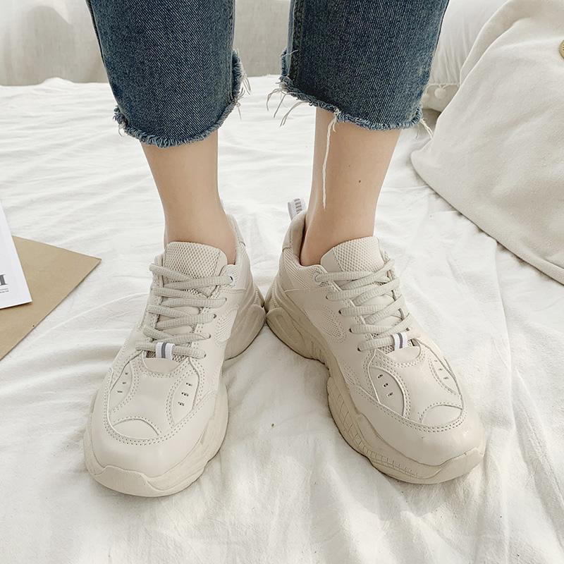 Summer New Style Ins เสื้อผ้าแฟชั่น Fashion Athletic Shoes Female 2019 Oldpapa Shoes Korean Style Students Versatile Online Celebrity White Shoes Womens Shoes By Taobao Collection.
