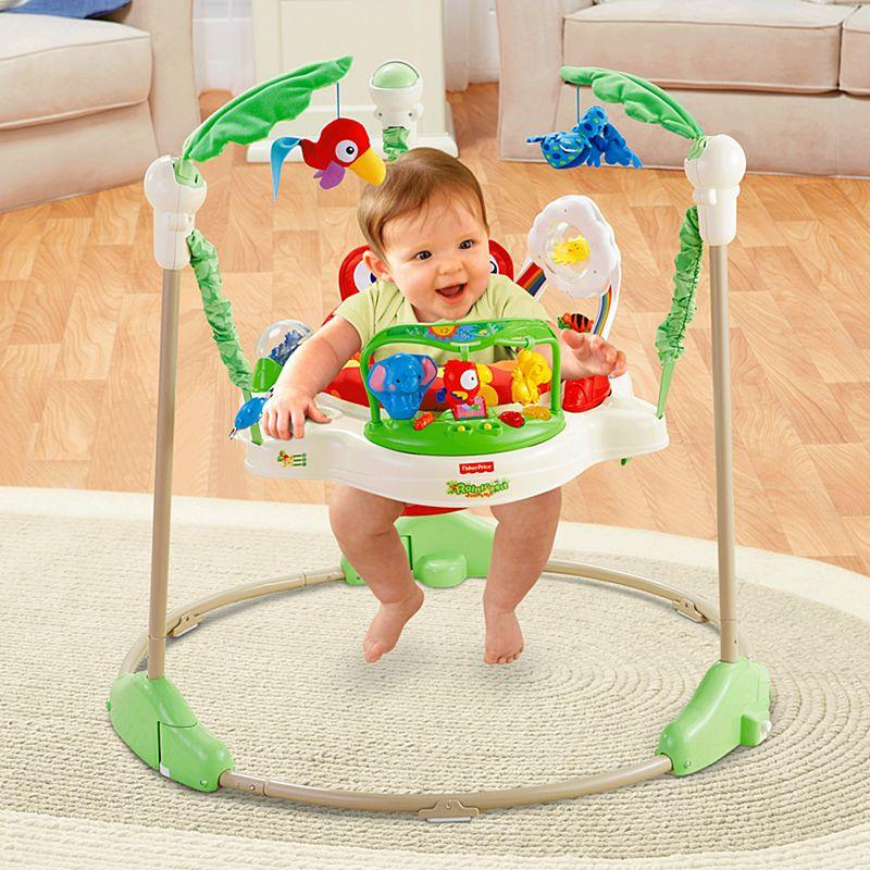Musical &lights Rainforest Jumperoo Swing First Step Baby Walker Toddler Chair (green) By Kings Kitchen.