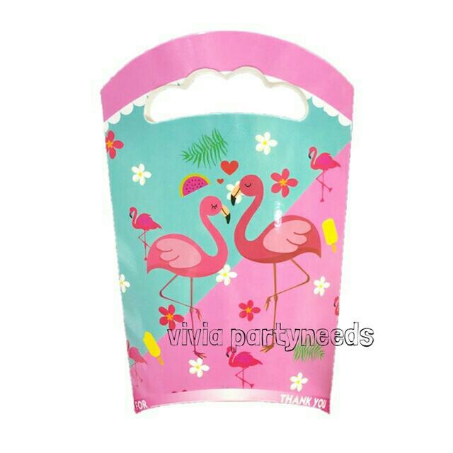 Flamingo Paper Loot Bag 14cmx25cm By Ah K Asta Store.