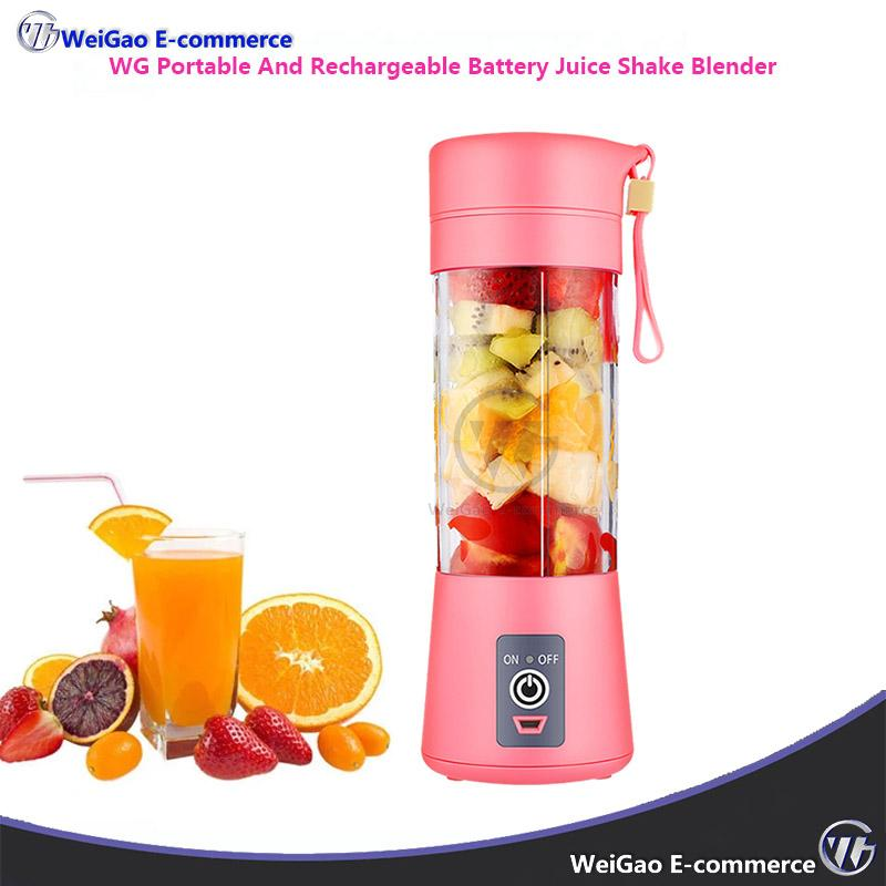 Wg Portable And Usb Rechargeable Battery Juice Shake Blender