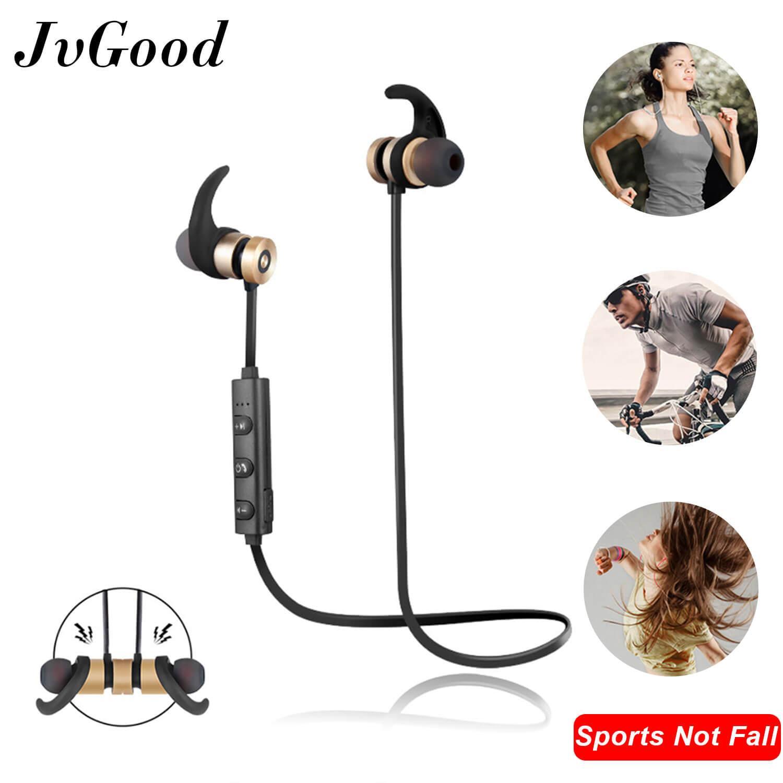 8d2c871bbd7 JvGood Magnetic Wireless Earbuds Bluetooth Headphones Sport in-Ear IPX 6  Sweatproof Earphones with Mic