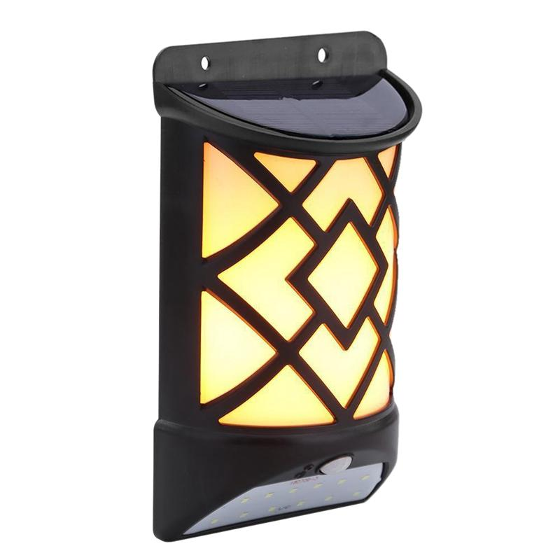 12 Led Solar Flame Wall Light Derlights Motion Sensor Light Outdoor Waterproof Solar Flame Lamp For Garden Pathway Yard