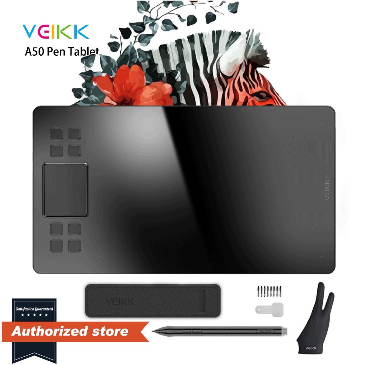 Veikk Official Store Veikk A50 Graphics Drawing Tablet Full Panel Digital Drawing Pad 10 X 6 Inch Large Work Area With 8192 Pressure Sensitivity