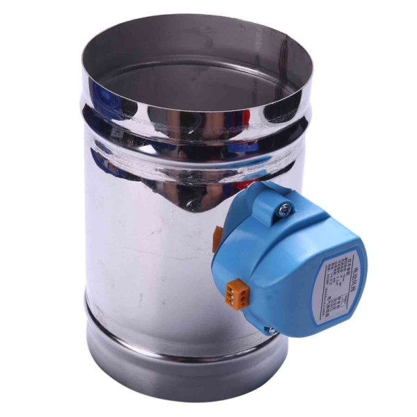 125mm stainless steel air damper valve HVAC electric air duct motorized damper for 5 inch ventilation pipe valve 220V
