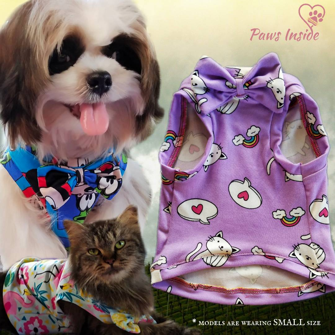Personality Pattern Vest Pet Clothes High Quality Cartoon Styles Dog Cat Shirt
