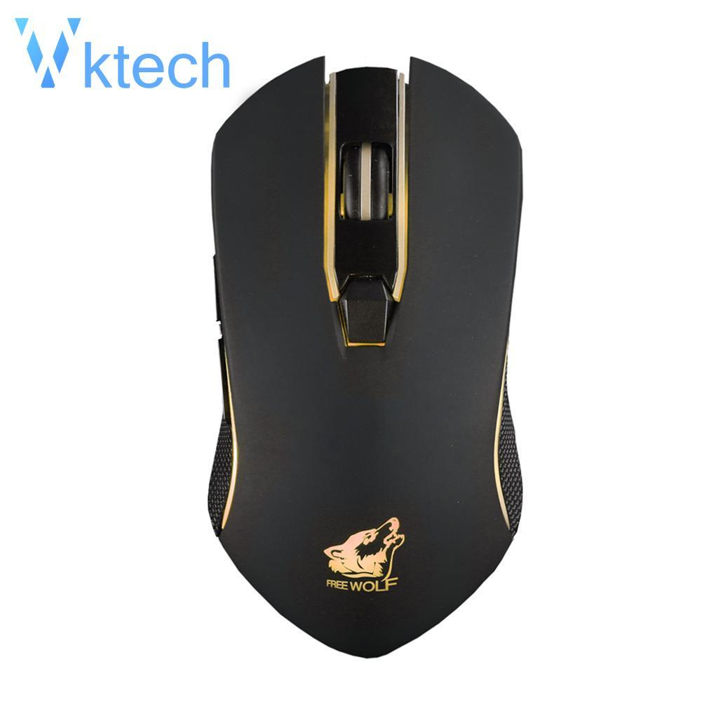 [Vktech] X9 Rechargeable Wireless Mouse Mechanical Gaming Mouse for Laptop  Desktop