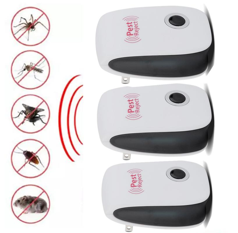 3PCS Home Ultrasonic Electronic Anti Mosquito Rat Bug Pest Control Repeller  Killer