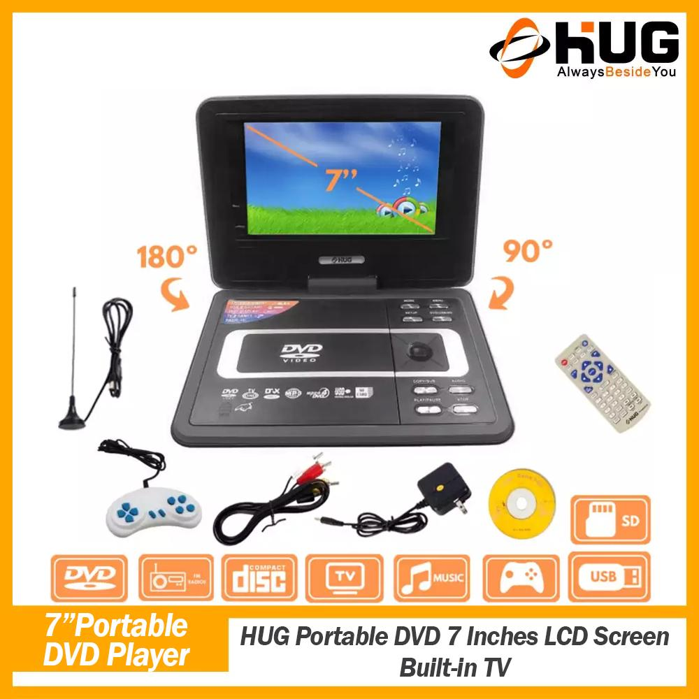 HUG Portable DVD 7 Inches LCD Screen Built-in TV