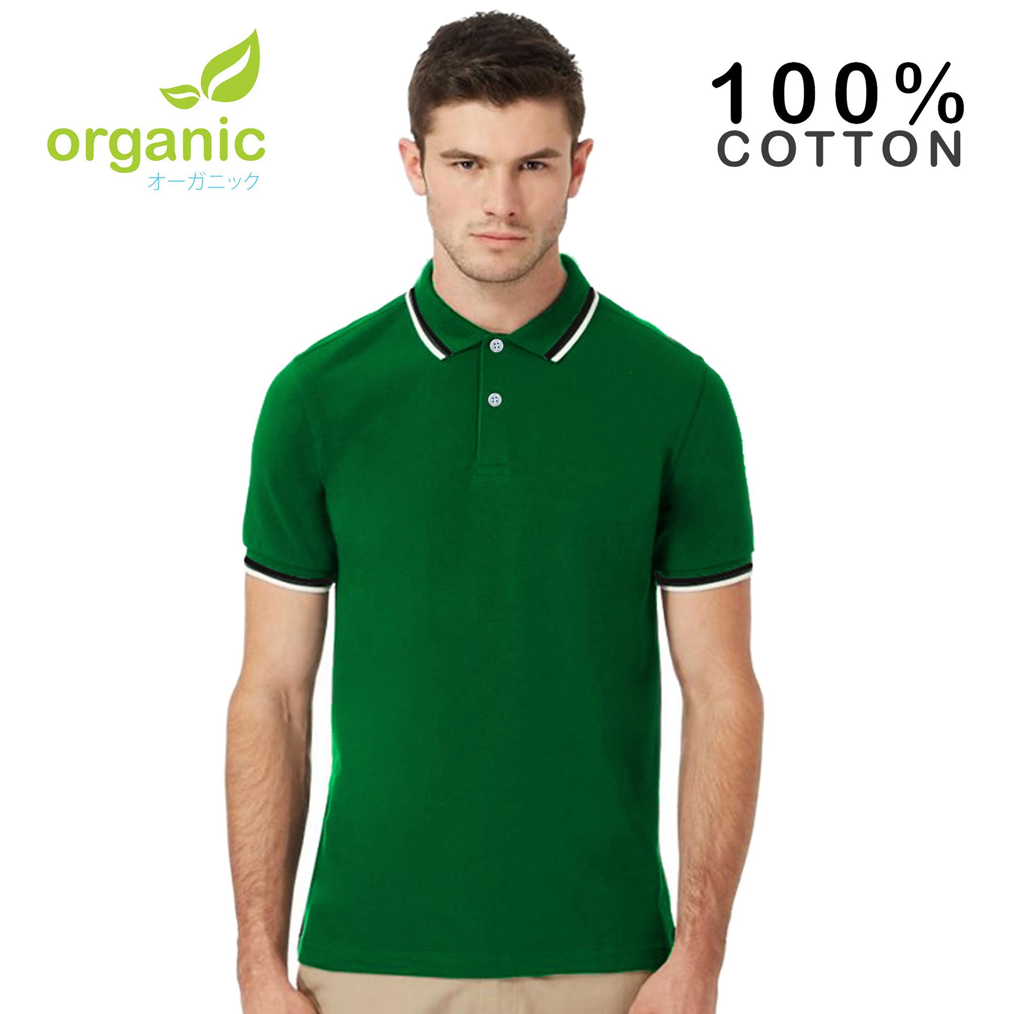 d0088e6e Organic Mens Tipped Pique Polo Shirt Tees t shirt tshirt shirts tshirts tee  tops top for