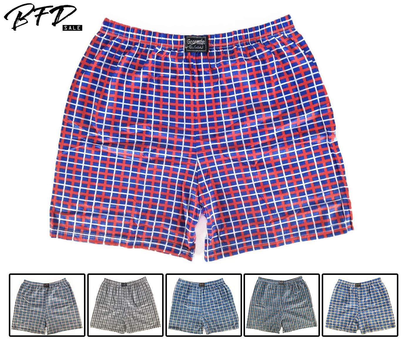 12 Pcs Mens Gingham Design Boxer Shorts / Brief / Underwear / Trunks By Direct Factory Sales.