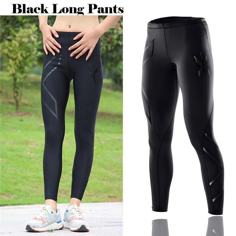 b17493112 zm.909 Black 2 XU Compression Cool Dry Sports Tights Pants Baselayer  Running Leggings Yoga