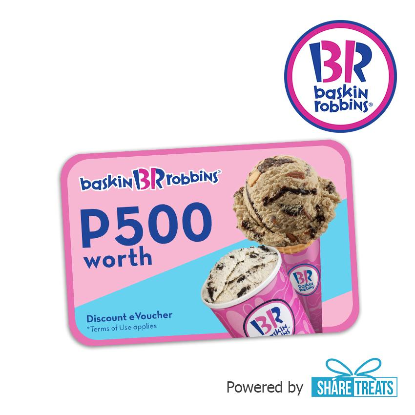 Baskin Robbins P500 Worth Voucher (sms Evoucher) By Share Treats.