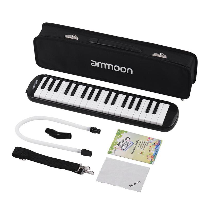 ammoon 37 Keys Melodica Pianica Piano Style Keyboard Harmonica Mouth Organ with Mouthpiece Cleaning Cloth Carry Case for Beginners Kids Musical Gift Malaysia