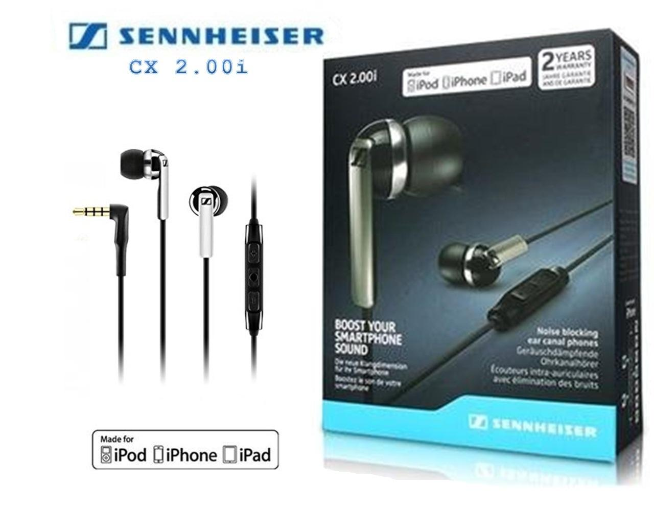 Sennheiser CX 2.00i In-Ear Canal Headset with Mic/Remote (Black)