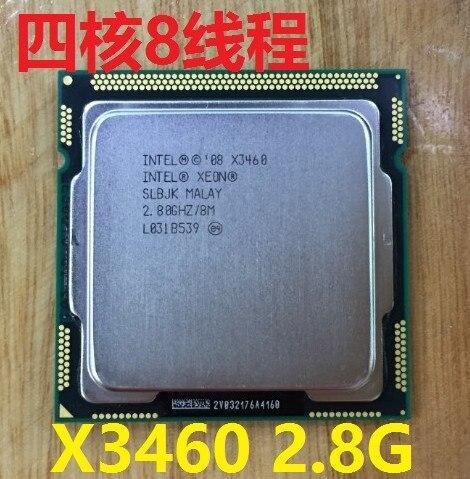 lntel Xeon X3460 2.8G/8M/2.5G LGA1156 Quad Core Server CPU Processor SLBJK equal i7 860 3460 YFD Store
