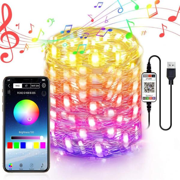 AAbest | Bluetooth RGB USB Light Strip LED String Lights Christmas Tree Decoration Lights App Remote Control USB Lighting