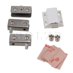 0.5-0.8cm Glass Door Hinges Clamps Kits Silver