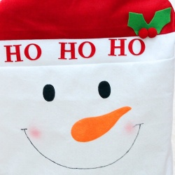 1 PC New 50x60cm Christmas Dining Snowman Santa Claus Deer Chair Back Cover Party Décor - intl