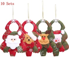 10 sets new christmas ornaments christmas tree santa claus pendants drop christmas decorations for home decoracion