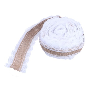 10M DIY Lace Linen Roll Christmas Wedding Craft Decorations Home - intl
