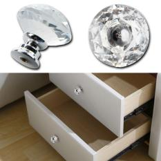10pcs 30mm Diamond Crystal Glass Door Drawer Cabinet Furniture Handle Knob Screw - intl Philippines